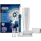 Oral-B SmartSeries 5000 Elektrische Zahnbürste, mit Bluetooth, Timer, CrossAction, Sensitiv und 3DWhite Aufsteckbürsten, blau