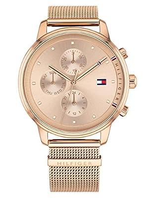 Tommy Hilfiger Reloj Multiesfera para Mujer de Cuarzo con Correa en Acero Inoxidable 1781907