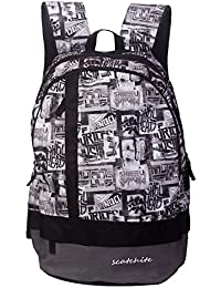 Scatchite Luxur 20 Ltrs Grey Casual Backpack (S77)