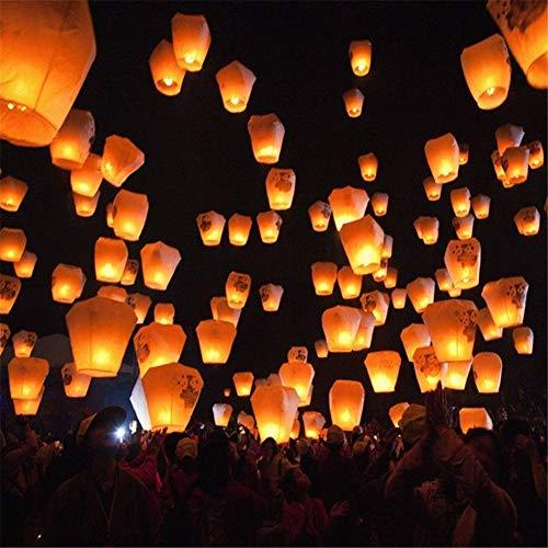 erne Flying Wishing Lampe Chinesische Laterne Himmel Laternen Air Kongming-Laterne für Geburtstag Hochzeit Weihnachten Party Dekoration Supplies ()