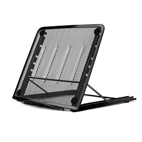 Soporte portátil Laptop Stand, iCasso malla de metal ajustable base para Notebook...