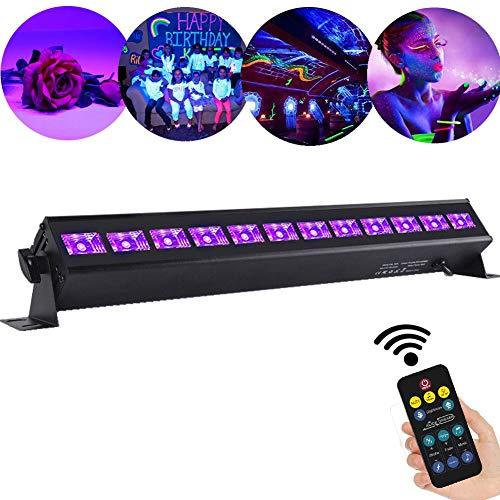 O LED UV-Schwarzlicht UV LED Lichteffekt PAR Licht Bühnenlicht Led Bühnenscheinwerfer PAR Licht für Bar Feiern Geburtstage Geschäfte Supermärkte Hochzeitsfeiern 12LEDs 36W ()