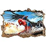 Spiderman 3D Pegatinas Spiderman Pegatinas Decorativas Pared Spiderman Pegatinas de Pared de Spiderman Para Niños Decoración