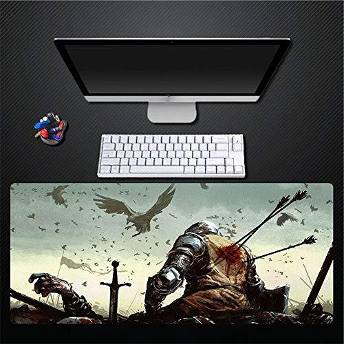 Adler-tastatur (Mauspad, Original Design Ritter Adler Tier Übergroße Wasserdichte Gepolsterte Gummi Mauspad Tastatur Pad Home Office Spiel Pad Geschenk, 300X700 Mm)