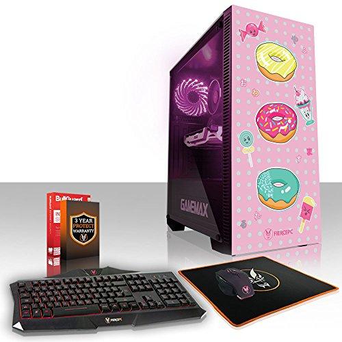 Fierce KREATION RGB Gaming PC Bundeln - Schnell 4.6GHz Hex-Core Intel Core i7 8700, 240GB SSD, 2TB Festplatte, 8GB 2666MHz, NVIDIA GeForce GTX 1050 Ti 4GB, Tastatur Maus (VK/QWERTY) 960564