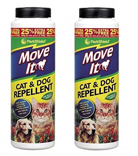 2 x PestShield Move It Cat & Dog Garden Repellent Non Toxic 100% Natural 300g