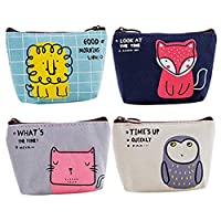 Retro Money Bag Small Cute Coin Purse(Pack of 4) (Pattern 10)