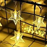 20 Led Lichterkette Batteriekasten Perle Weihnachtsschnur Licht Fünfzackigen Sternschnur Garten Weihnachtsfeier Lichterketten Kugel Partybeleuchtung AußEn Ideale Partylichterkette