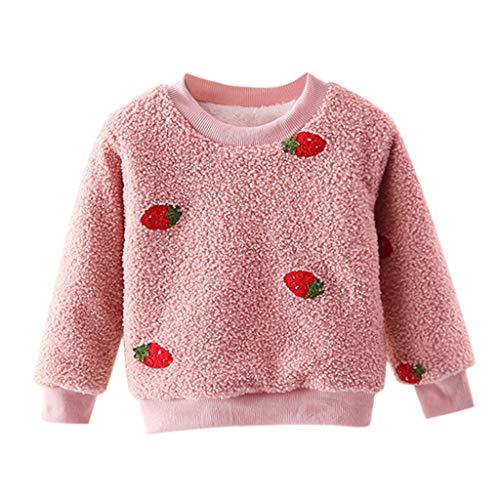 Flamedre Kinder Langarm Plus Samt Dickes Sweatshirt Top Baby-Mädchen-Starkes Pullover-Sweatshirt übersteigt warme Kleidungs-Ausstattungen Kapuzenpullover Sweatanzüge
