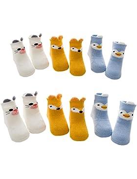 Kaily Unisex Baby Winter Verdickte Baumwolle Socken(6 Paar)