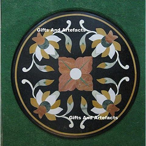 """17""""Marmo tavolo semi preziosa pietra inserto Tavolino Divano Tavolino Home Office Decor"""