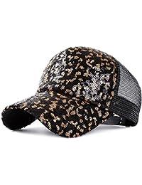 Sombreros Mujer Sombrero del Sol de Verano Sol Sombrero para el Sol Moda  Coreana Lentejuelas Gorra de béisbol… ba87543088a