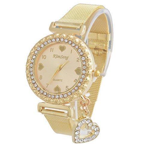 souarts-gold-color-steel-heart-dial-plate-heart-bead-quartz-bracelet-wrist-watch-22cm