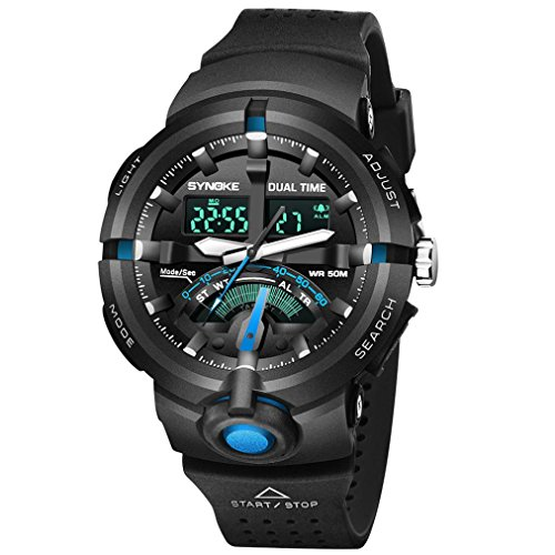 Coupon Matrix - Digital Sport Watch, Military Outdoor Watch for Men Waterproof LED Water-resistant Watches Electronic Back Light 50M Water Resistant Stopwatch Alarm (Sport, A)