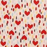 Tela laminada blanco roto con corazón rojo y pinceladas de colores de Lecien