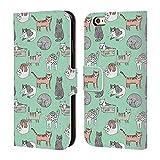 Ufficiale Andrea Lauren Design Gatti Animali Cover in Pelle a Portafoglio Compatibile con iPhone 6 / iPhone 6s