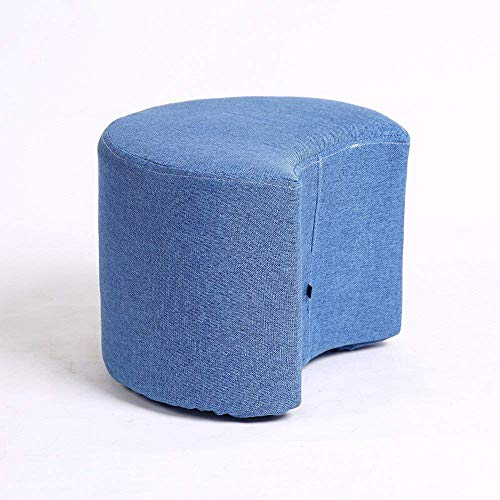 XQY Stuhl-Schuh-Schuh-einfacher Schemel-Wohnzimmer-Sofa-Stuhl-Art und Weise sitzen Gewebe-Kleiner Schemel-Fester hölzerner Schemel-Haus bequem,Dunkelblau (Wohnzimmer-gewebe-stühle)