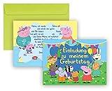 Peppa Wutz - Peppa Pig Einladungskarten 16-Teilige Geburtstag Kindergeburtstag Einladungen