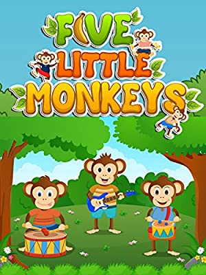 Five Little Monkeys Jumping on the Bed - Songs for Kids