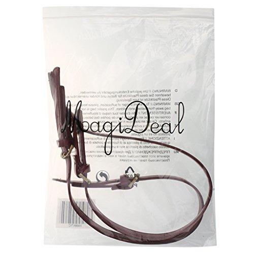 Aclaramiento Precio Increíble Aclaramiento Comercializable MagiDeal 2pz Cinturino Cinghie Spalla Tracolla per Borsa Sacchetto DIY - Rosso vino Rosso vino CLJYDQ0AiO