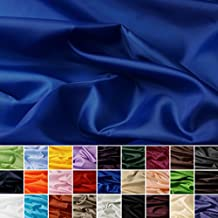 Seda Tafetán - 100% poliéster - Por metro - 27 colores (azul real)