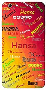 Hansa (Swan) Name & Sign Printed All over customize & Personalized!! Protective back cover for your Smart Phone : Micromax Unite 2