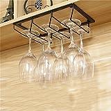Schwarzes hängendes angebrachtes Metallwein-Gestell, europäisches Eisen-Weinglas-hängendes Regal u. Becher-Regal für Küche / Bar / Restaurant ( größe : 30*20cm )
