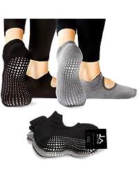 LA Active Calcetines Antideslizantes - Para Yoga Pilates Ballet Barre Mujer  Hombre - Ballet cdbdf76098286