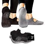 LA Active Grip Chaussettes Antidérapantes - Pour Yoga Pilates Barre Femme Homme -...