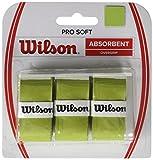Wilson Griffbänder Pro Soft Overgrip 3 Pack - Mango de raqueta de tenis (pack de 3), color verde lima