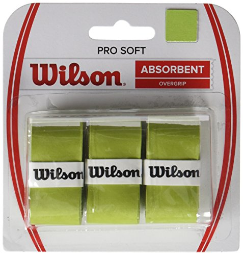 Wilson Unisex Griffband Pro Soft Overgrip, grün, 3 Stück, WRZ4040LI