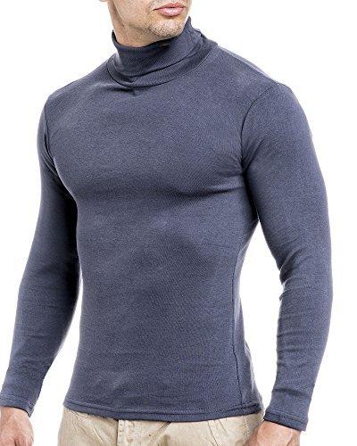 19ab12e2ce82 Leif Nelson Herren Rollkragenpullover Pullover Rollkragen Hoodie T-Shirt  Slim Fit