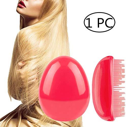 Kopfhautbürste Massagekamm Kunststoffkamm Kopfmassagegerät Spezialkamm Kamm Glattes Haar Student Haarbürste Square Comb Kopfhautpflege Verhindert rose red