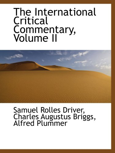 The International Critical Commentary, Volume II