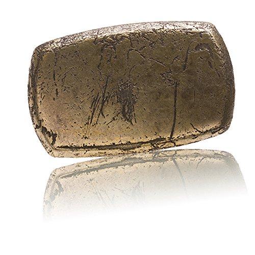 Gürtelschnalle Buckle 30mm Metall messing antik - Buckle Spoiled Button - Dornschliesse für...
