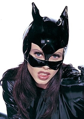 Halloween Karneval Party Kostüm Damen Vinyl Katzenmaske (Returns Batman Catwoman Kostüme)
