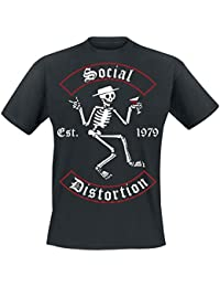 Social Distortion Banner Arch Skelly T-shirt noir