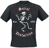 Social Distortion Banner Arch Skelly T-Shirt schwarz L