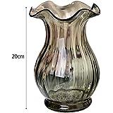Joyousac Kristall Vase Blume Glas Vase Deko-Mittelstück für Heim- oder Hochzeit 20 cm Höhe