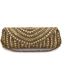 Funkia™ Women's ethnic , designer , handcrafted Silk Party Clutch- seven colors