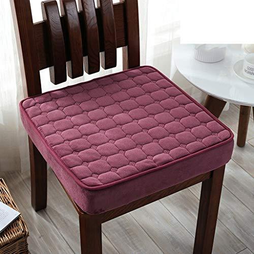 Yijiayun Sitzkissen, einfarbig, für Bürostuhl, Computerstuhl-Kissen, Studenten, dickeres Kissen, a, 50 * 50 * 8cm - Hand Getuftet Teppiche
