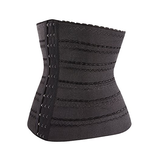 Kiwi-rata Schlank Bauch Bandage Bauchbandage Rückenbandage Slim Mieder Gr S-L Schwarz