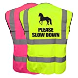 51CHm9RTHbL. SL160  BEST BUY UK #1Equine PLEASE SLOW DOWN Vest Waistcoat Equestrian Safety Reflective Plus a Brook Hi Vis UK Discount Code for your next order price Reviews uk