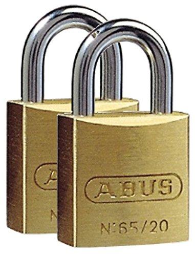ABUS 3511465/202Stück Vorhängeschloss Messing 20mm