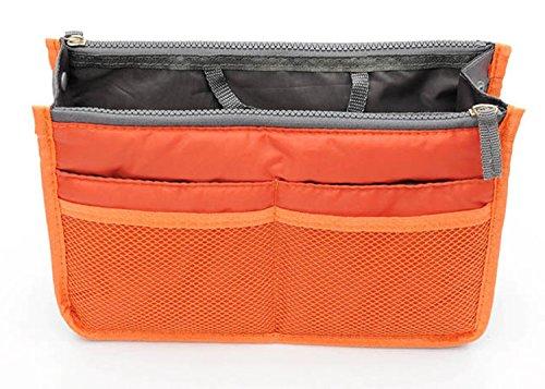 TheWin Travel Organiser Insert Tidy Cosmetic Handbag Orange