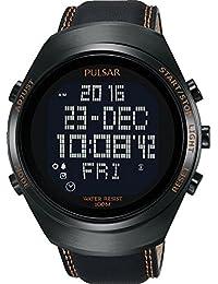 Pulsar Herren-Armbanduhr Pulsar X Digital Quarz Leder PQ2063X1