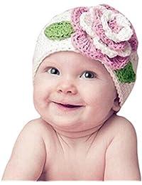 FEITONG Flor grande linda Los niños bebé niño infantil Chica caliente Beanie Knit del sombrero del casquillo