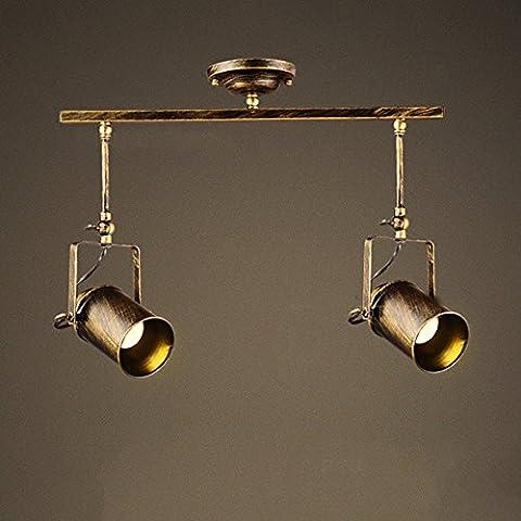 Frideko Retro Style 2 Socket Industrial Spot Light Ceiling Pendant