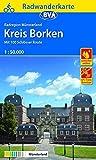 Radwanderkarte BVA Radregion Münsterland Kreis Borken mit 100 Schlösser Route 1:50.000, reiß- und wetterfest, GPS-Tracks Download (Radwanderkarte 1:50.000) -