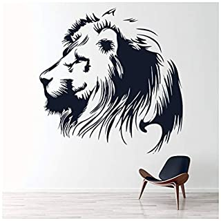 azutura Lion Portrait Wall Sticker African Animals Wall Decal Big Cats Home Decor available in 5 Sizes and 25 Colours X-Large Black